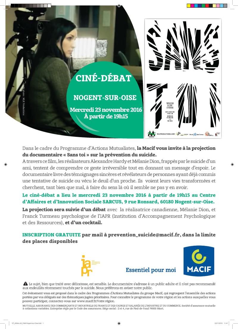 Ciné-débat à Nogent-sur-Oise